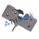 050-0413 Floating Striker Single Rotor Latch